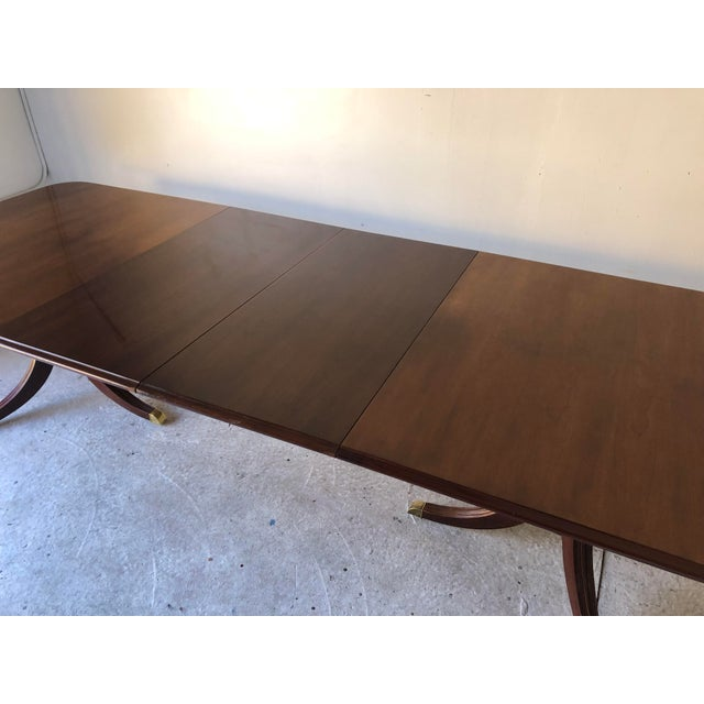 Thomasville Thomasville Dining Table Fruitwood 112 X 45 Excellent For Sale - Image 4 of 12