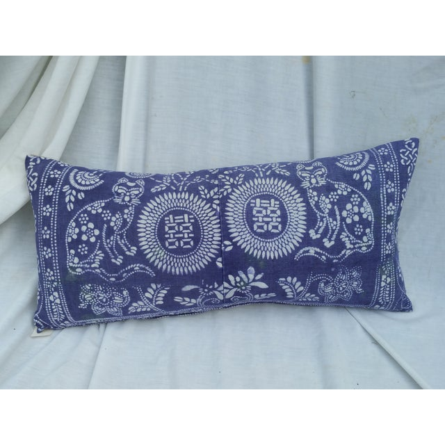 Hand Batik Cat Design Lumbar Pillow - Image 2 of 5
