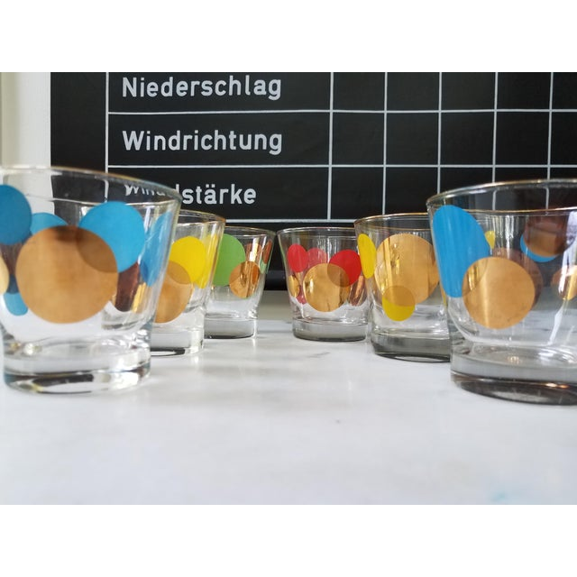 Russel Wright Mid-Century Eclipse Gold Cocktail Glasses - Set of 6 - Image 9 of 10