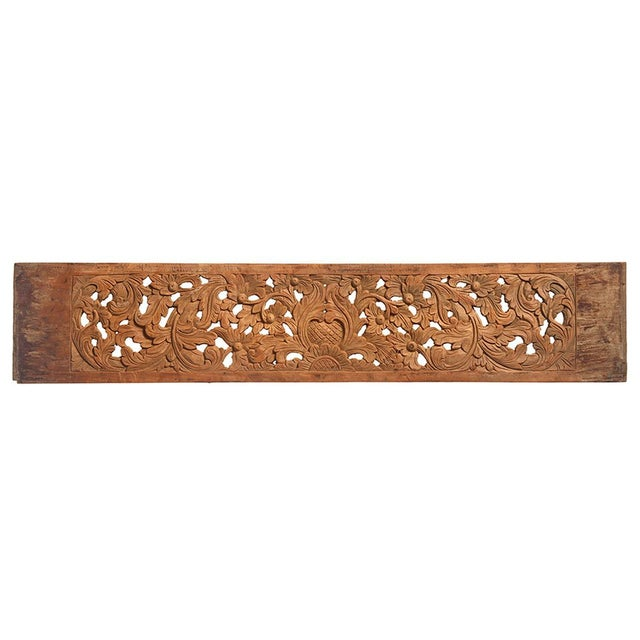 Rustic Decorative Teak Carved Panel For Sale - Image 3 of 3