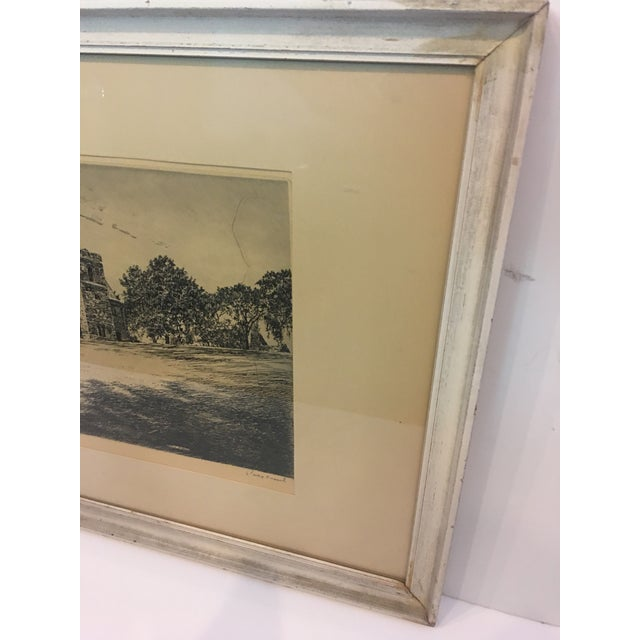 Vintage Canterbury School Chapel Etching by Philip Kappel For Sale - Image 4 of 13