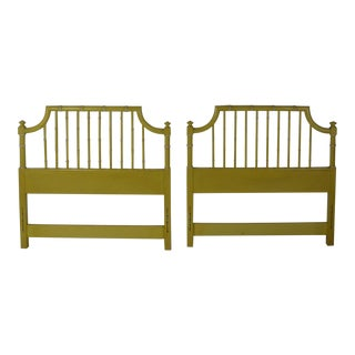 1960s Hollywood Regency Faux-Bamboo Twin Headboards - a Pair For Sale