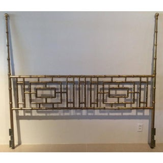 Vintage Faux Bamboo Chinese Chippendale King-Size Headboard Preview