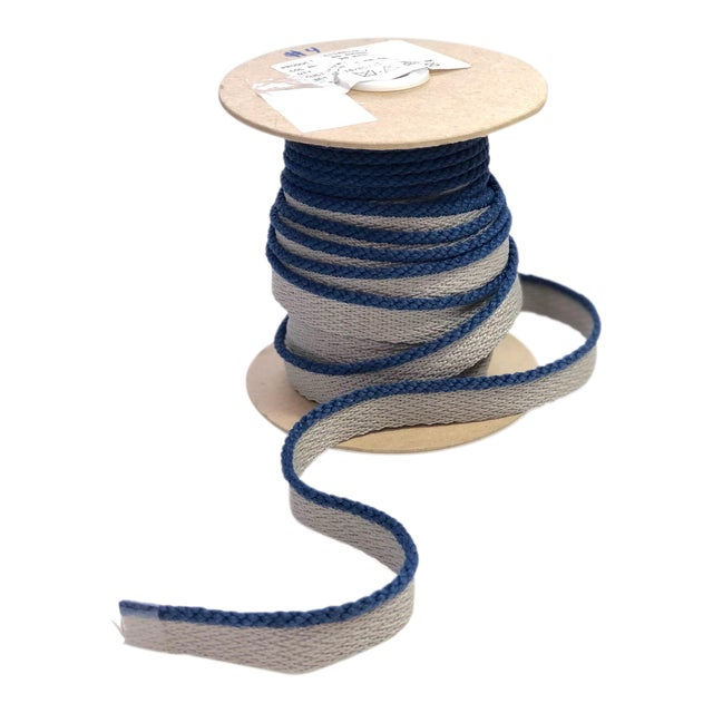 """Cabled 1/8"""" Indoor/Outdoor Blue Cord Trim For Sale"""