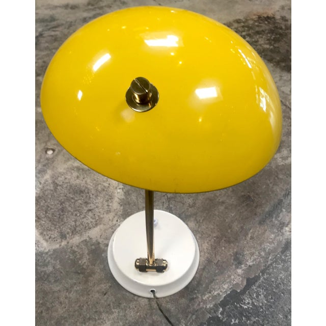 1950s Yellow Midcentury Table Lamp For Sale - Image 4 of 10