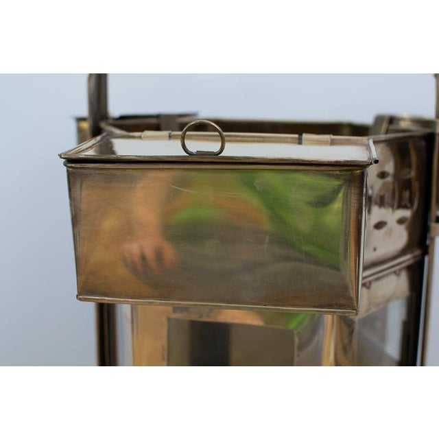 Asian Mid-Century Brass Asian Noodle Cart For Sale - Image 3 of 12