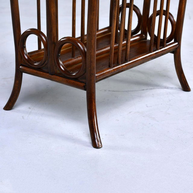 Early Thonet Bentwood Magazine Rack For Sale - Image 9 of 12