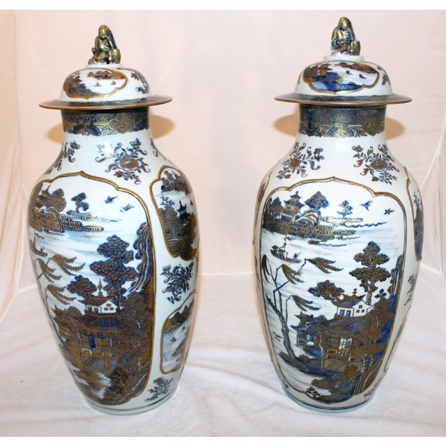 18th Century Chinese Qing Dynasty Covered Jars - a Pair For Sale - Image 9 of 9