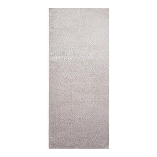 Hand-Knotted Contemporary Rug in Gray Textural Geometric Pattern For Sale