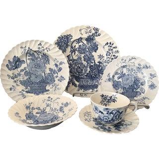 Royal Staffordshire Charlotte Blue & White China Set