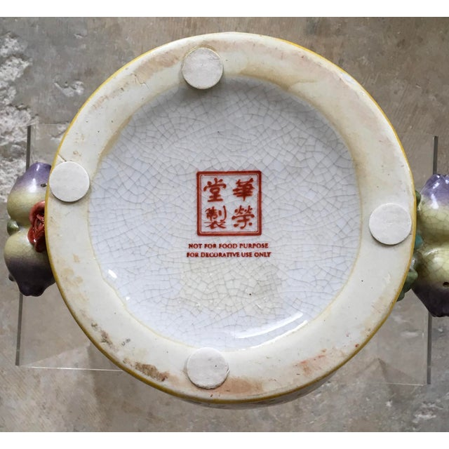 Highly Decorative Chinese Export Style Cachepot For Sale In San Antonio - Image 6 of 10