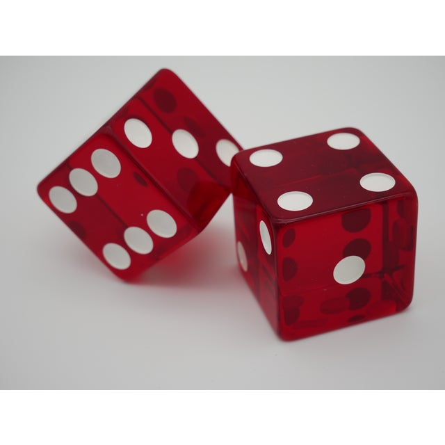 1960s Jumbo Red Casino Dice - a Pair For Sale In Austin - Image 6 of 6