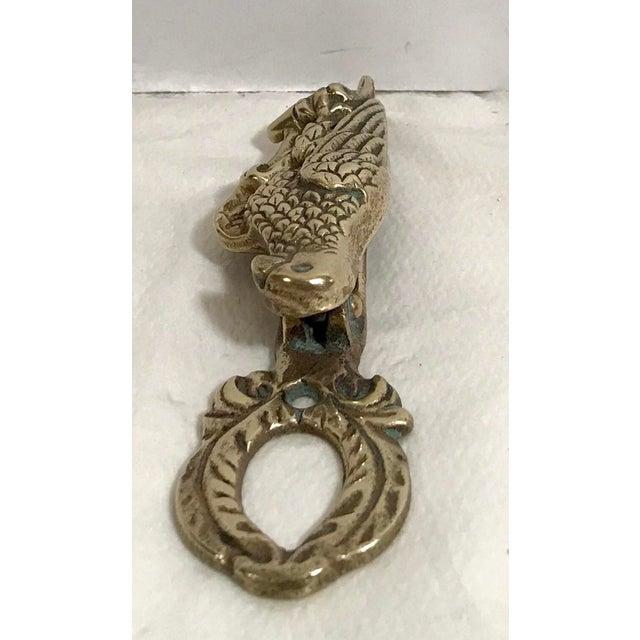 Mid-Century Modern Vintage Mid Century Brass Parrot Door Knocker For Sale - Image 3 of 7
