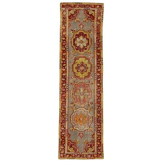 20th Century Turkish Distressed Oushak Runner For Sale