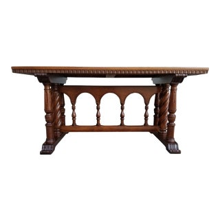 Early 20th Century Refectory or Library Table For Sale
