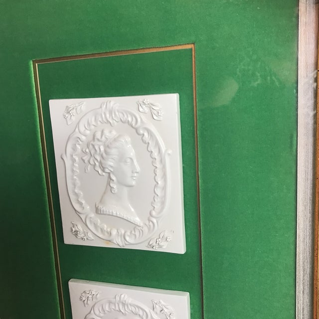 Vintage Georgian Era Framed Ceramic Tiles For Sale In Miami - Image 6 of 8