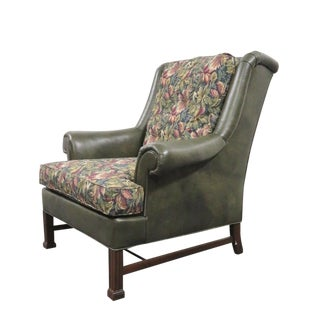 Hickory Chair Co. Chippendale Style Wing Chair For Sale