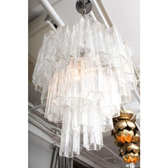 Venini Tube Chandelier For Sale In New York - Image 6 of 8