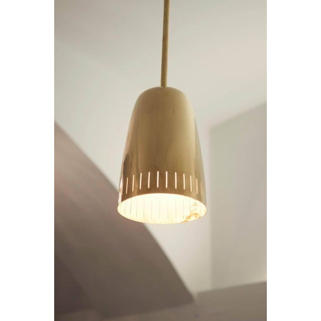 Mid-Century Modern Mid-Century Brass Hanging Lamp from Kalmar Vienna For Sale - Image 3 of 9