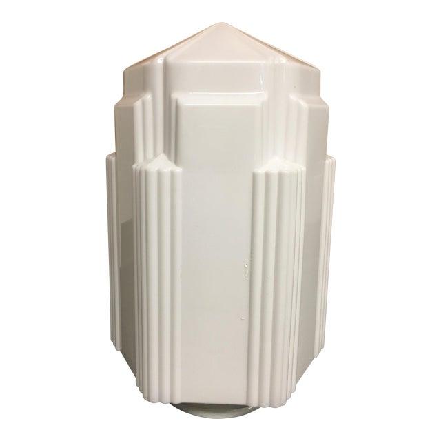 Art Deco Glass Light Fixture For Sale