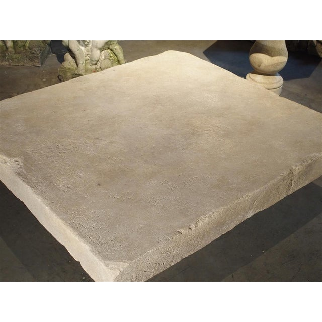 Large Limestone Coffee Table From Provence, France For Sale - Image 9 of 12