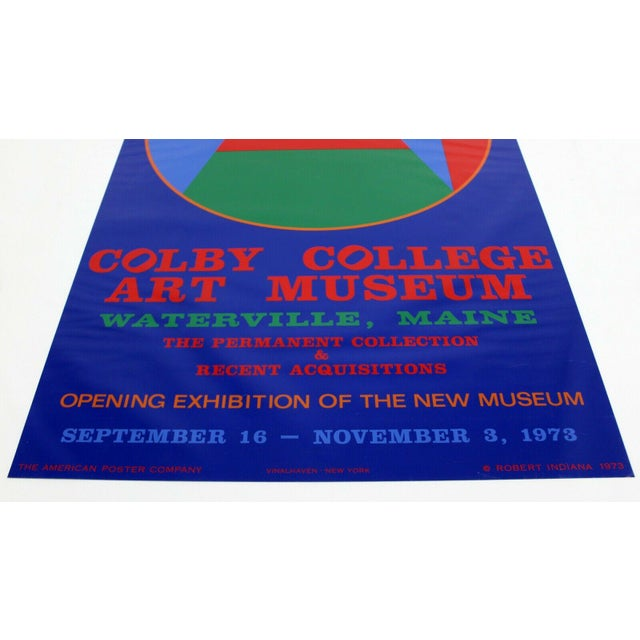 For your consideration is an unframed, vintage, Robert Indiana Coby College of Arts poster, circa 1973. In excellent...