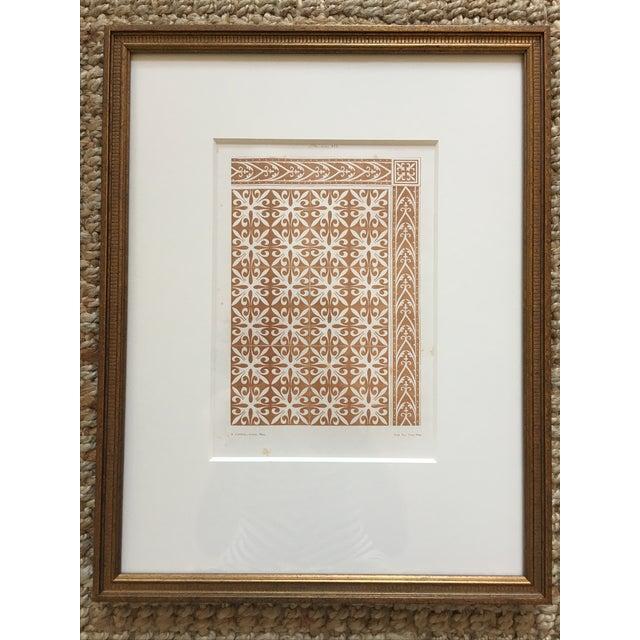 Framed Book Plate Pattern Prints - Set of 6 For Sale - Image 7 of 10