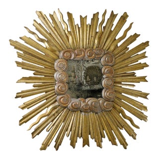 Early 19th Century Italian Gilt Sunburst Mirror For Sale