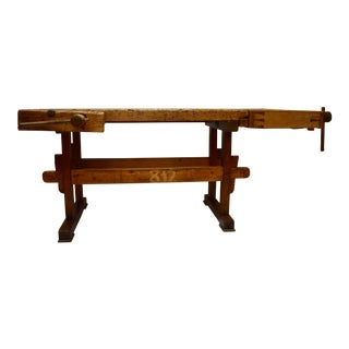 Oak Carpenter's and Joiner's Workbench For Sale