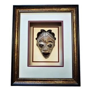 Framed Shadow Box African Punu Mask For Sale