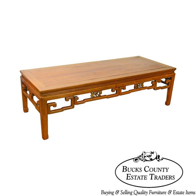 Antique Chinese Ming Style Large Hardwood Coffee Table For Sale - Image 13 of 13