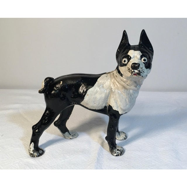 Vintage Hubley Boston Terrier Door stop. Will have normal signs of age use.  There - Vintage Hubley Boston Terrier Cast Iron Door Stop Chairish