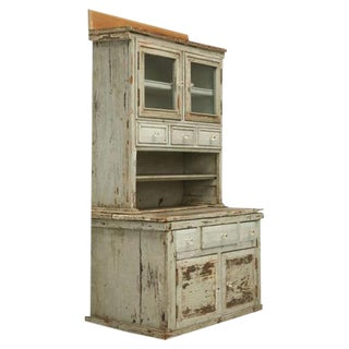 Miniature American Pine Child's Cupboard For Sale