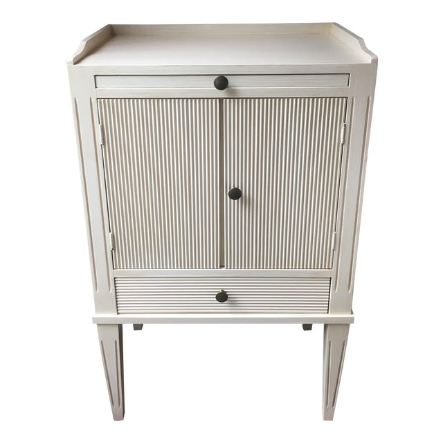 Swedish Nightstand With Pull-Out Desk - Image 1 of 6