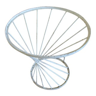 Vintage Wrought Iron Spiral Table For Sale