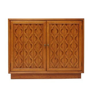 Heritage Furniture Pecan Commode Cabinet