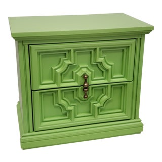 Mediterranean Lime Green Side Table For Sale
