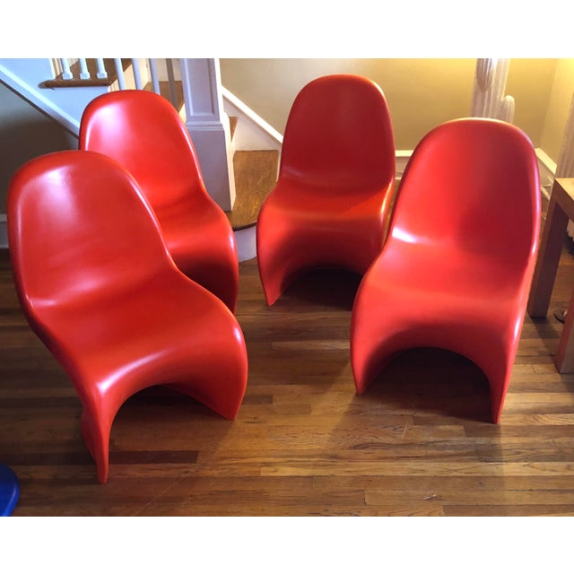 Verner Panton Verner Panton for Vitra Chairs- Set of 4 For Sale - Image 4 of 11