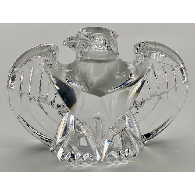 Vintage Steuben Glass Lloyd Atkins Crystal Decorative Eagle For Sale - Image 13 of 13