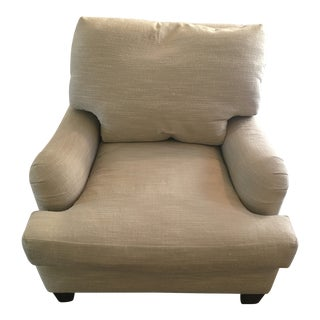 2014 A. Rudin Beige Kobayashi Club Chair