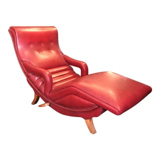 Red Contour Reclining Chair For Sale