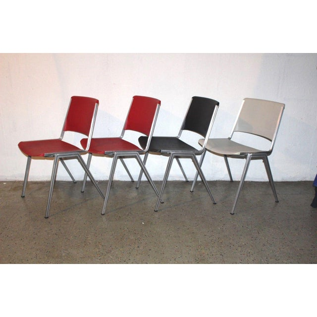 1960s Mid Century Modern Steelcase Stackable Plastic Backed Chairs - Set of 4 For Sale - Image 11 of 11