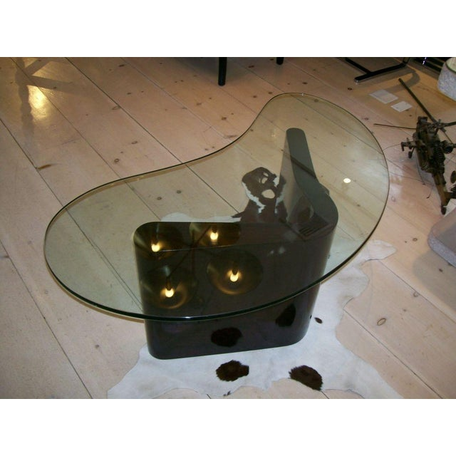 1940s Art Deco Boomerang Cocktail Table For Sale - Image 5 of 5