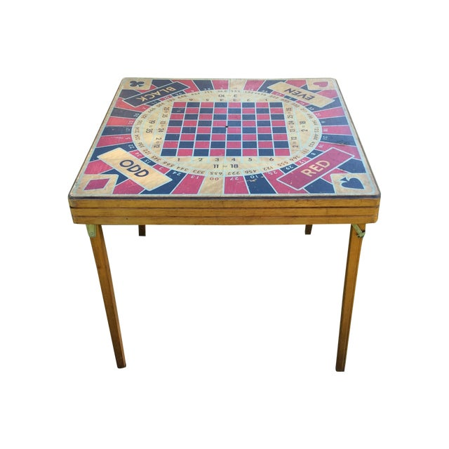 Vintage Five in One Game Table For Sale