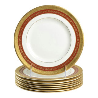 Minton Imperial Gold Salad Plate Set of 8 For Sale