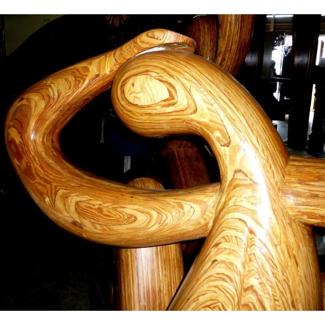 Monumental Carved Wood Nude Sculpture by Hy Farber For Sale In Los Angeles - Image 6 of 8