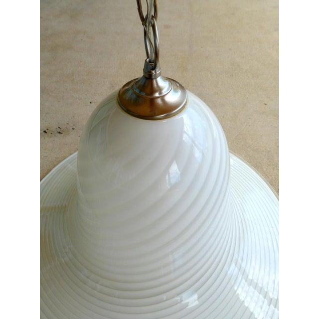 1960s Murano Art Glass Pendant Light Fixture For Sale - Image 4 of 10
