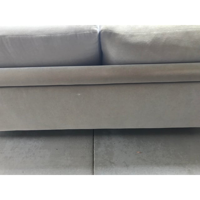 Gray Mauro Lipparini for Saporiti Italia Mohair Sofa For Sale - Image 8 of 10