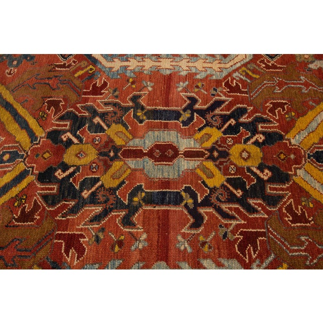 "Islamic Vintage Persian Tribal Bakshaish Rug, 7'6"" X 10'5"" For Sale - Image 3 of 10"
