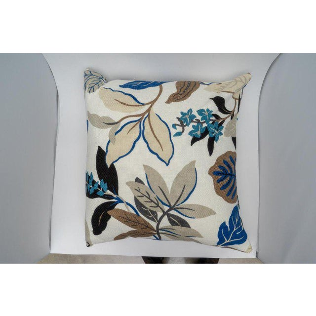 White Bespoke Floral Pillows - a Pair For Sale - Image 8 of 11